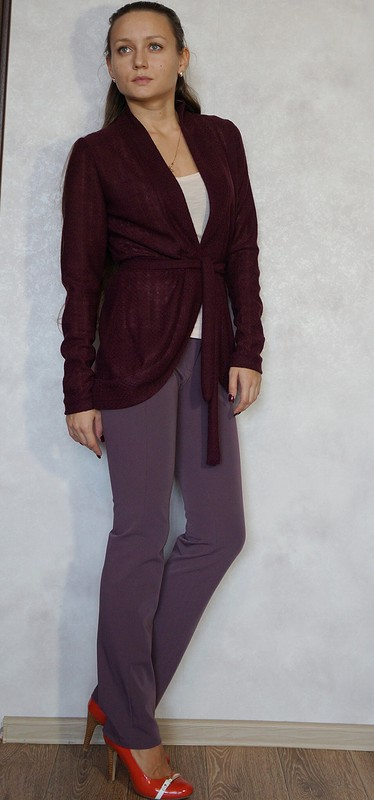 Кардиган цвета бордо