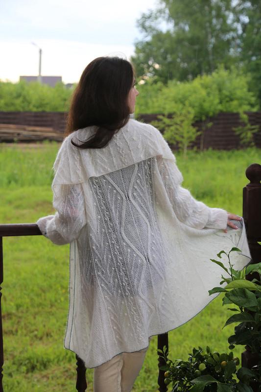 Летнее мохеровое лёгкое пальто от Елена Илларионова
