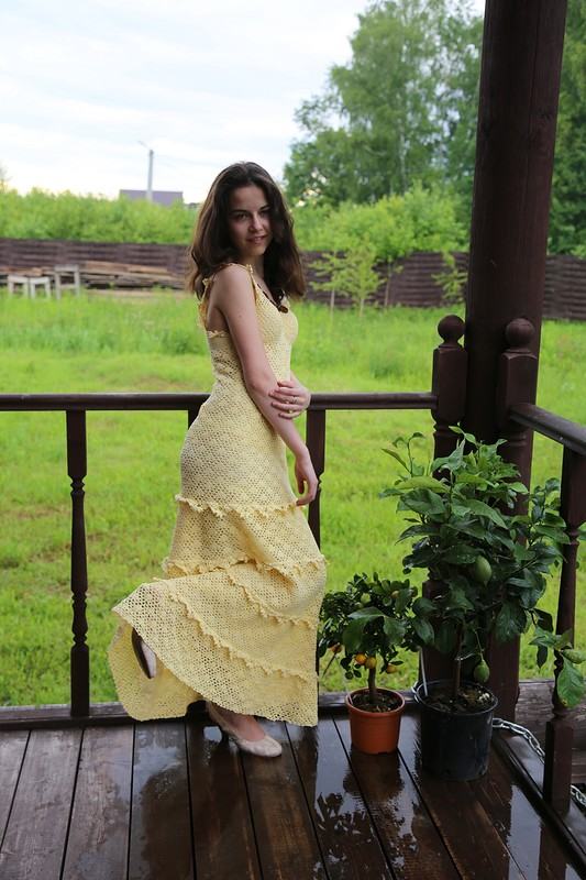 летнее вязаное платье от Елена Илларионова