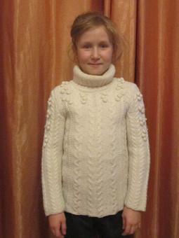 Работа с названием Теплый свитер