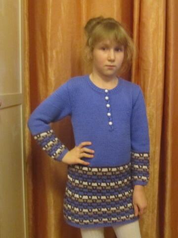 Синее платье от Polinomm