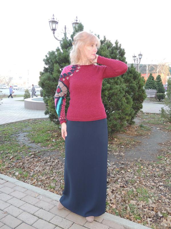 Пуловер с«тату» от Азалия