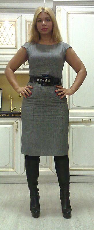 Платье шерсть-пепита