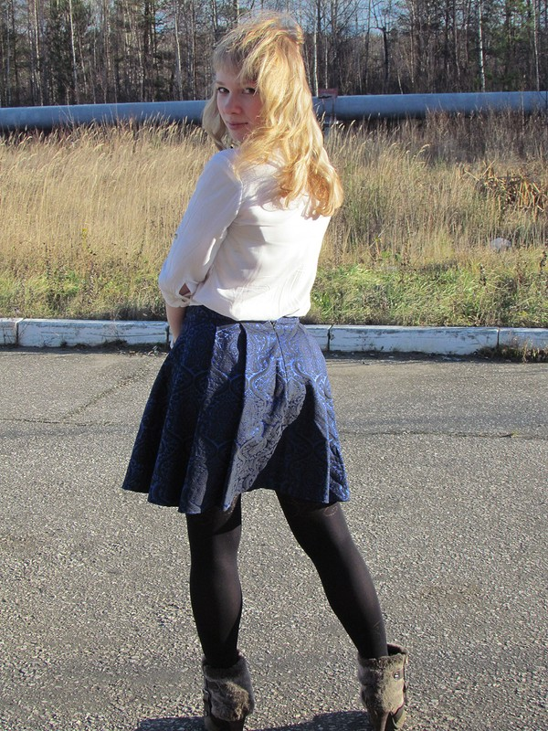 Юбочка синяя, нарядная ) от Verynia