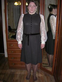 Работа с названием Планировалось платье, а получился сарафан