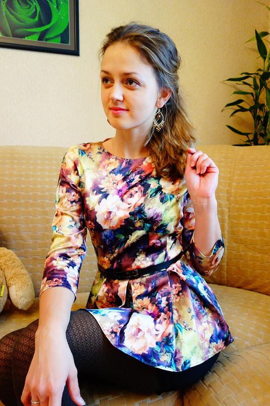 Блуза сбаской! от OLGA RYCHKOVA