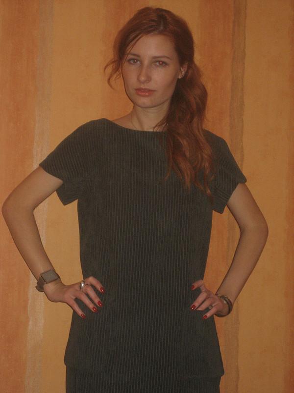 зеленое платье от Вера Волхонская