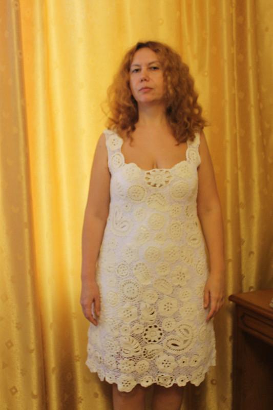 Платье кружевное вязаное крючком от Zolychka