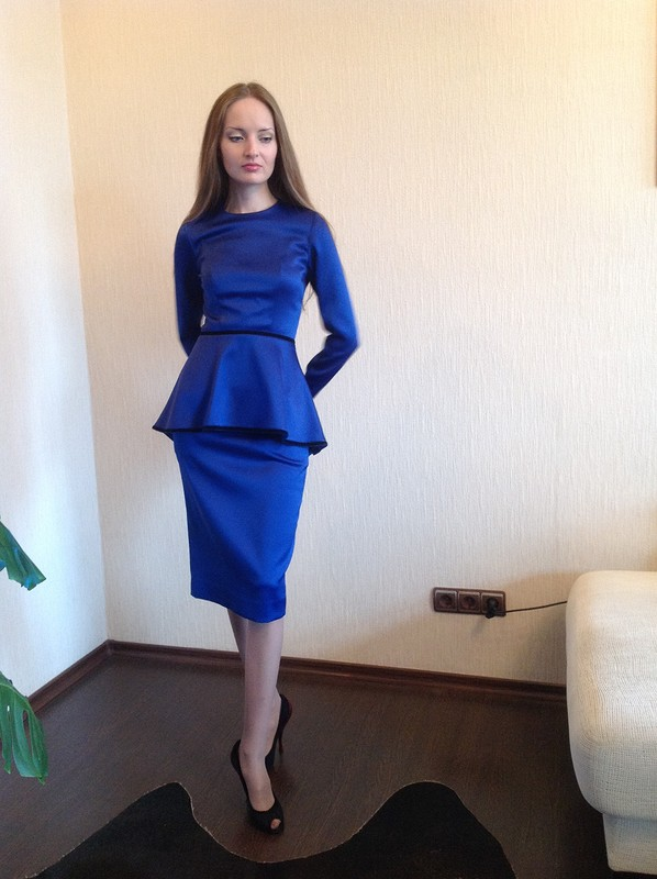Синий костюм сбаской от Nekrasova-Anna