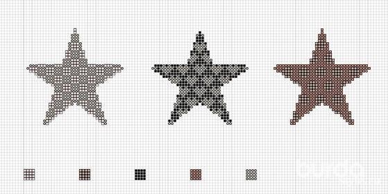 Мешочки длясувениров свышитыми звездами