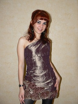 Работа с названием Праздничное платье