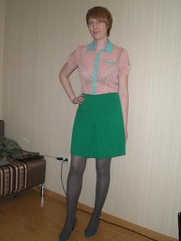 Работа с названием Винтажная зеленая юбка