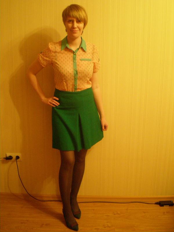 Винтажная зеленая юбка от Ekaterok