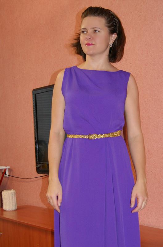 Платье + золотой пояс= вечерний наряд от Цыбулька