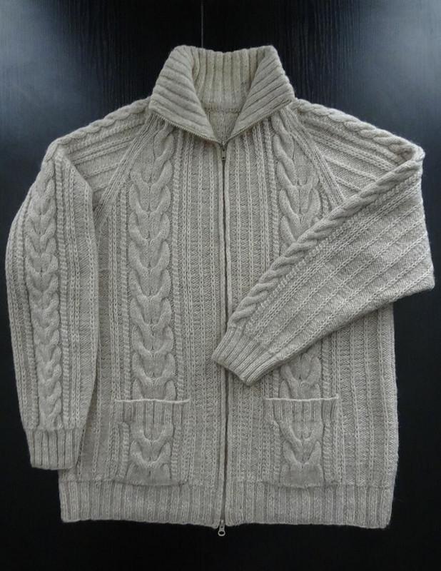 Вязаная мужская куртка