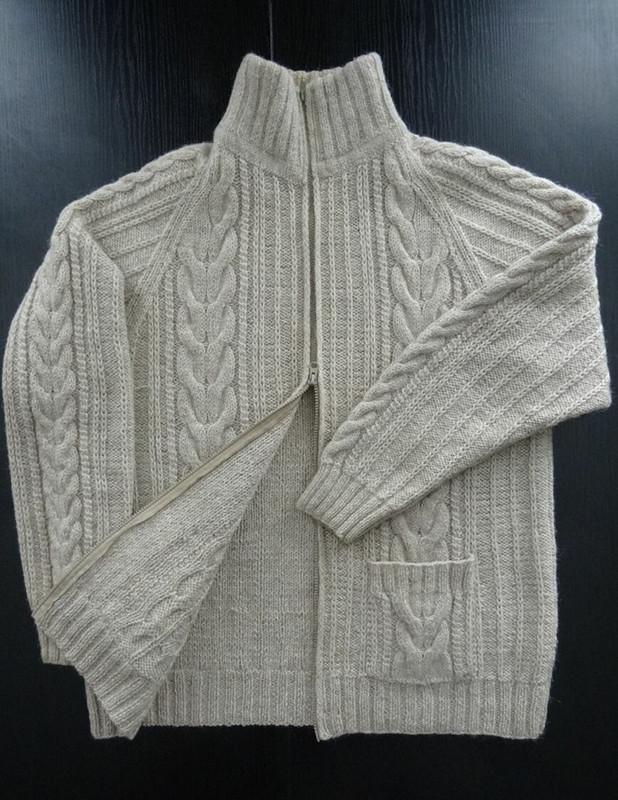 Вязаная мужская куртка от D__Irina59