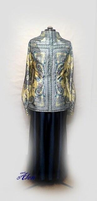 Блузка Узор наванили от iskushenie