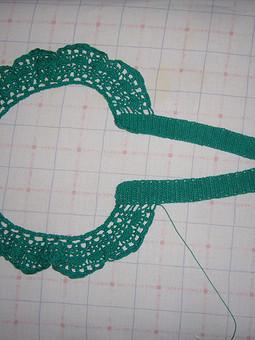 Работа с названием вязаный воротник для платье