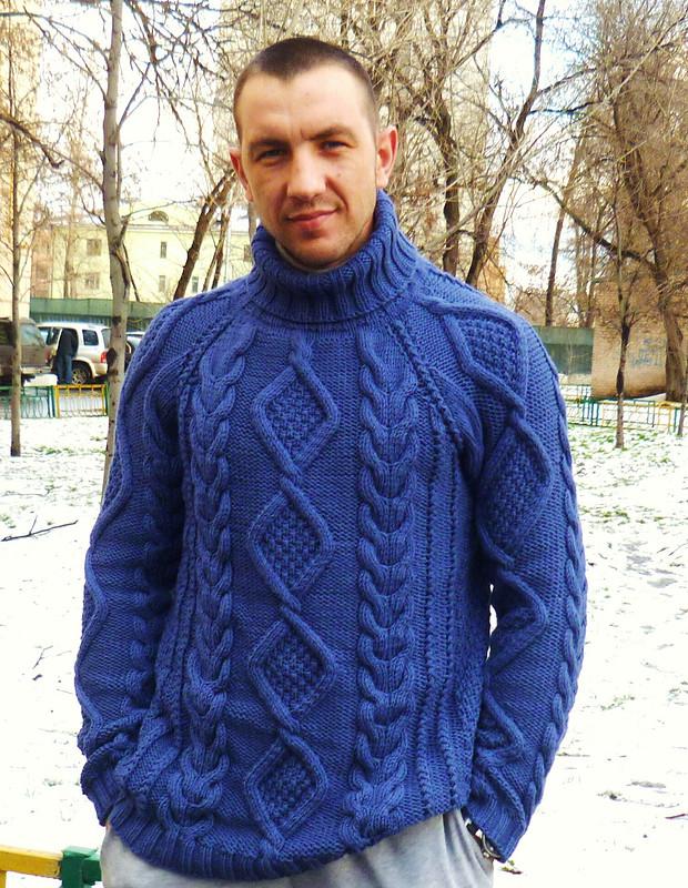 свитер мужской «Классика» от Наталья Спасибочкина