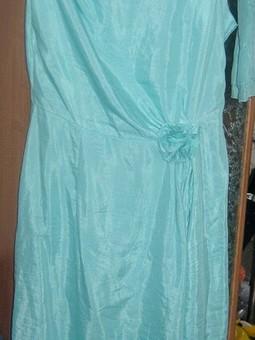 Работа с названием Платье морская волна