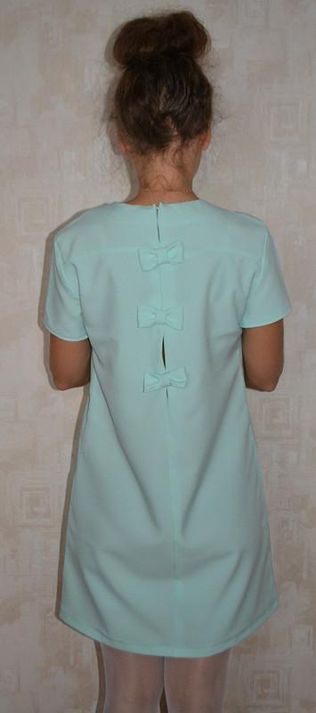 Мятное платье сбантиками надень рождения мужа