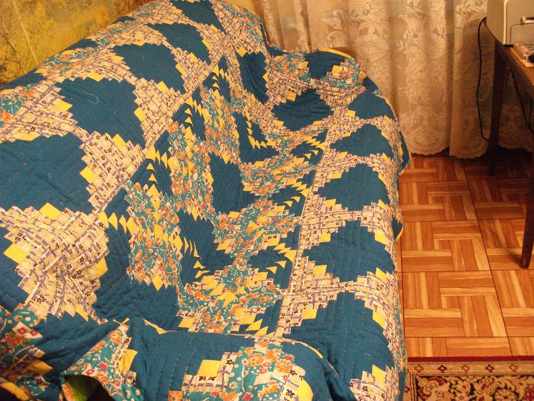 мое первое одеяло втехнике пэчворк