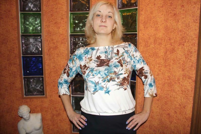 Блузка срисунком от hellena