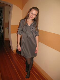 Работа с названием платье с бантом