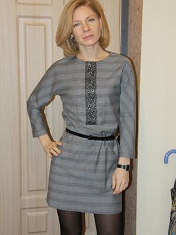 Работа с названием Просто-платье. Любимая выкройка.