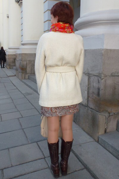Пальто из«шанельки» от Юлия Деканова