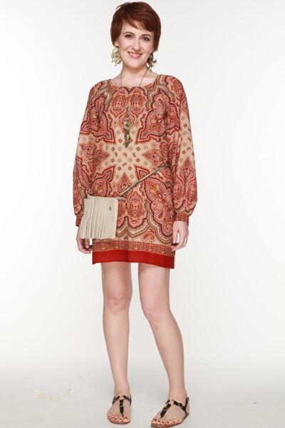 Платье изпавловопосадских платков от Юлия Деканова