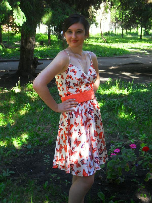 Шёлковое платье навыпускной от lemavl