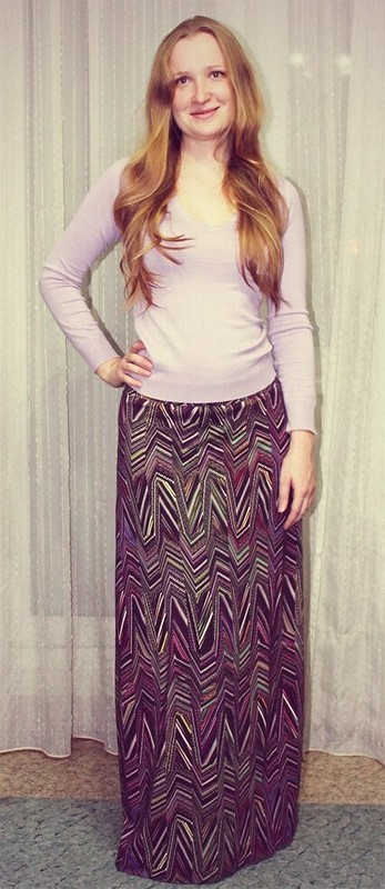 Длинная юбка сгеометрическим принтом от АнастасияХ
