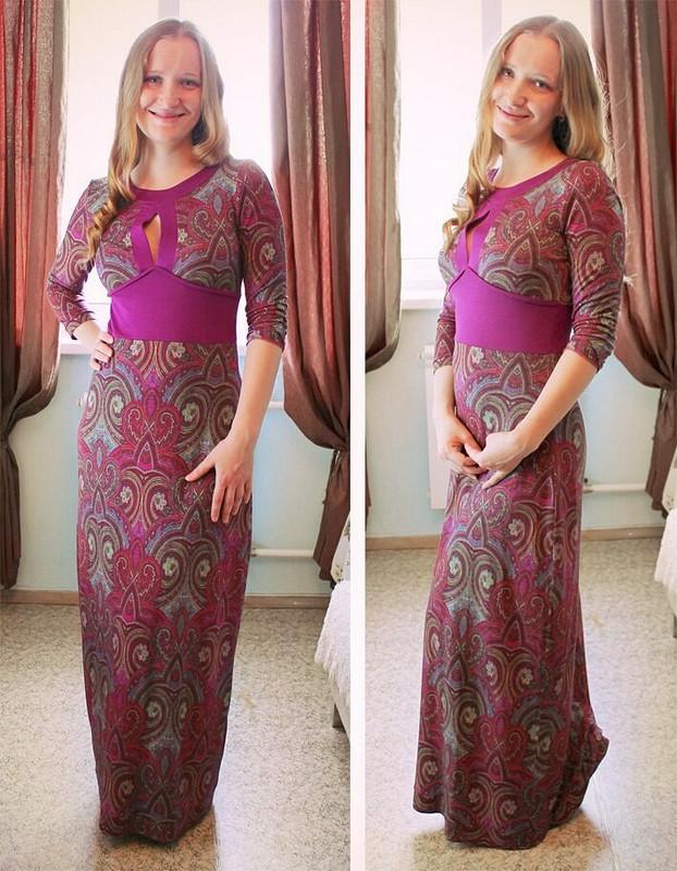 Платье впол цвета мадженты от АнастасияХ