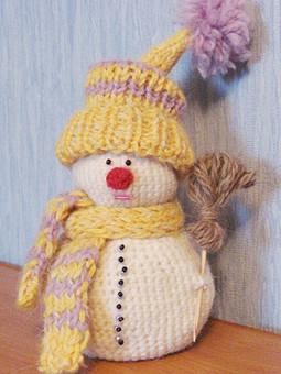 Работа с названием снеговик
