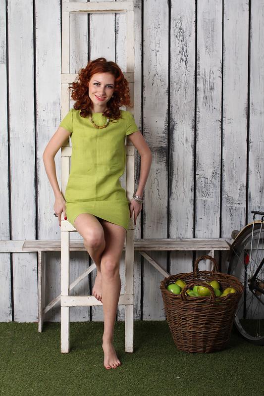 маленькое зеленое платье от Вера Волхонская
