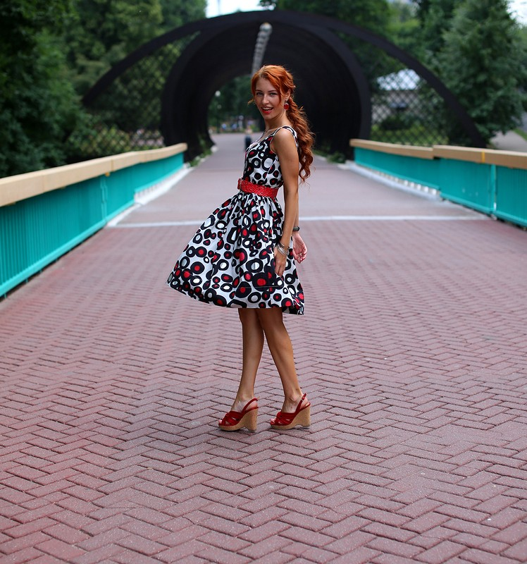 платье вгорошек от Вера Волхонская