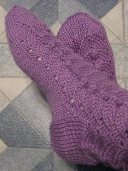 Работа с названием ажурные носочки