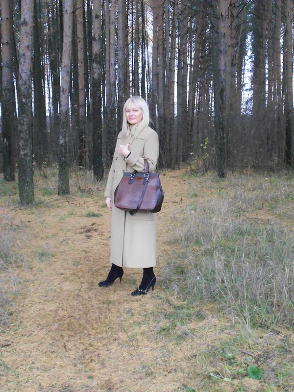 Тёплое пальто «Песочное» от Абрико