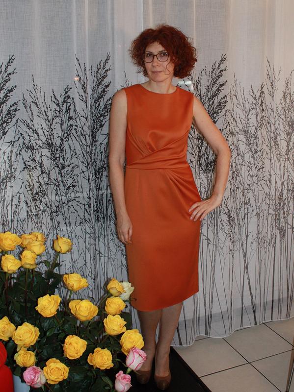 Терракотовое платье.