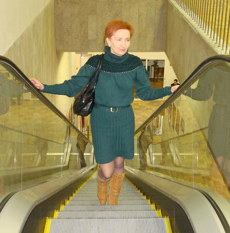 Зеленое  платье (шерсть)