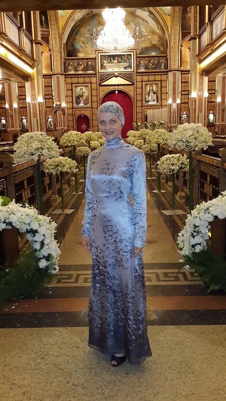 Вечернее платье срукавом от Anastasiya Sapega