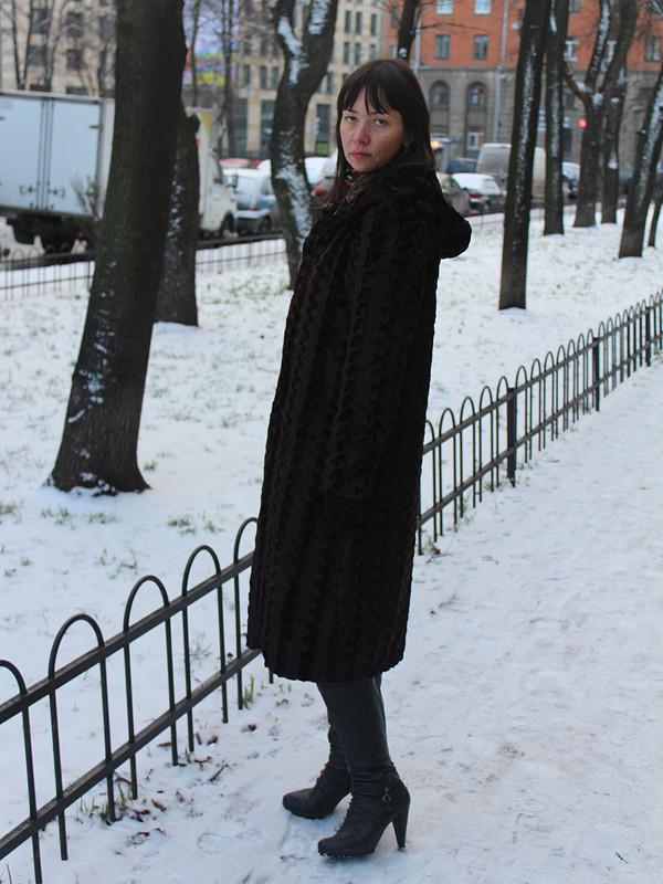 Пальто изиск. меха от stitcher