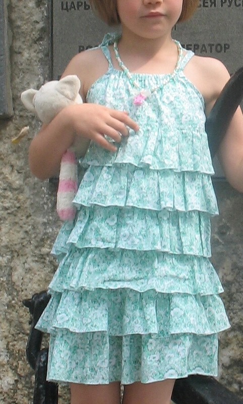 Летнее платье длядевочки от Тамиша