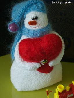 Работа с названием Снеговик :)