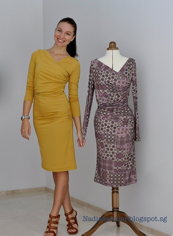 Два платья поодной выкройке от Nadia