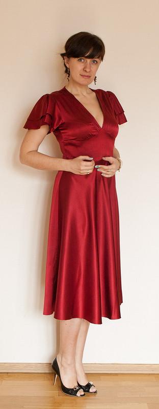 Бордовое шелковое платье от JonikJane