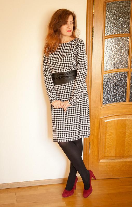 Платье впринт «гусиная лапка» от JonikJane