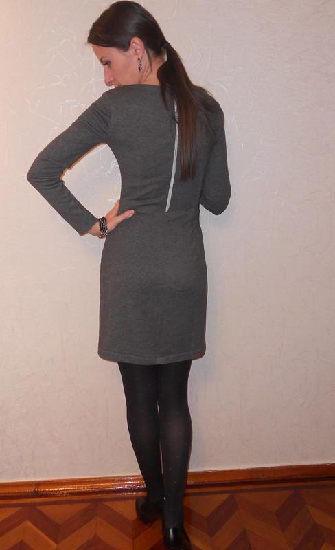 Серое теплое платье от Natika