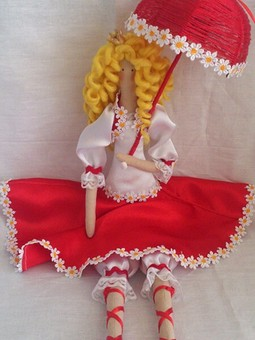 Работа с названием Кукла тильда Цветанка